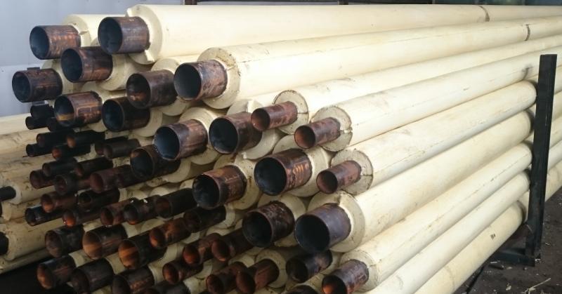 Труба в ППМ изоляции на складе